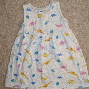 🧁Old Navy Baby Girl Tank Dress Dinosaur Sz18-24